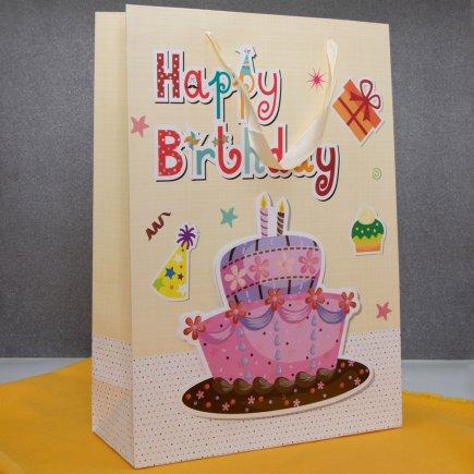 پاکت هدیه برجسته طرح کیک