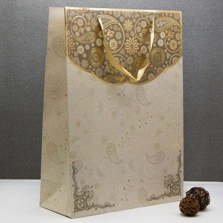پاکت هدیه طرح گل طلایی