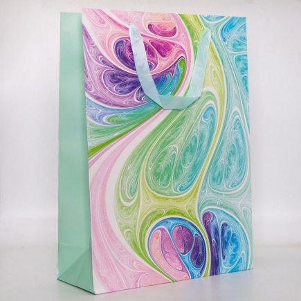 پاکت هدیه طرح رنگارنگ کد 6081