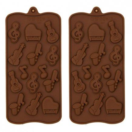 قالب سلیکونی شکلات طرح موسیقی بسته 2 عددی