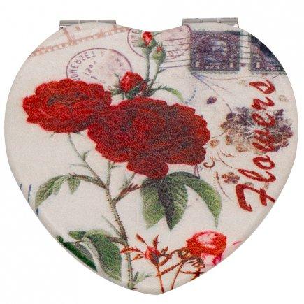 آینه جیبی طرح گل کد 6156