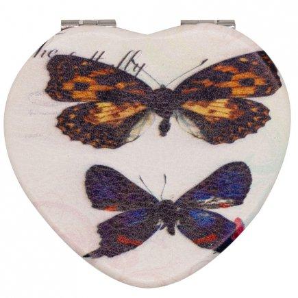 آینه جیبی طرح پروانه کد 6175