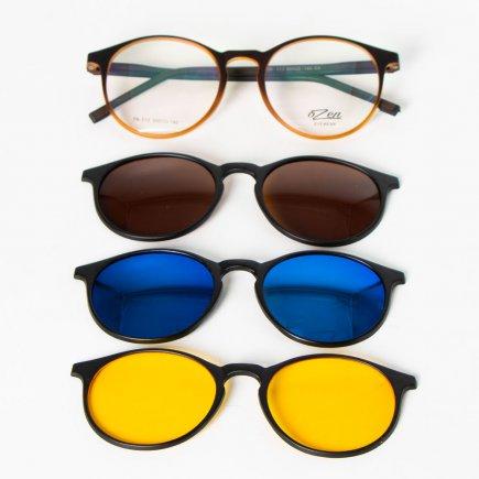 فریم عینک طبی اوزن کد 313/1 به همراه 3 کاور