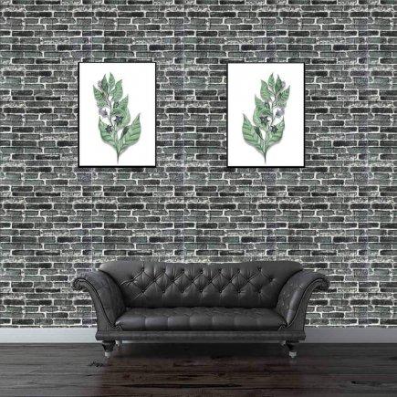 دیوارپوش طرح آجر سبز طوسی کد 6284